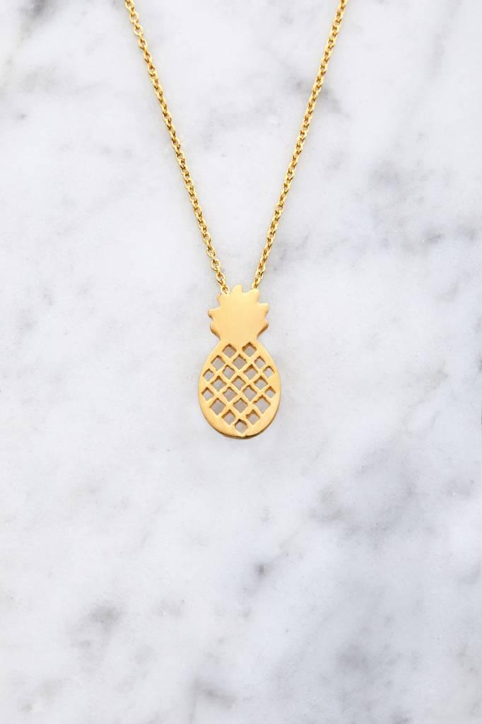 Ananas aus vergoldetem 925er Silber