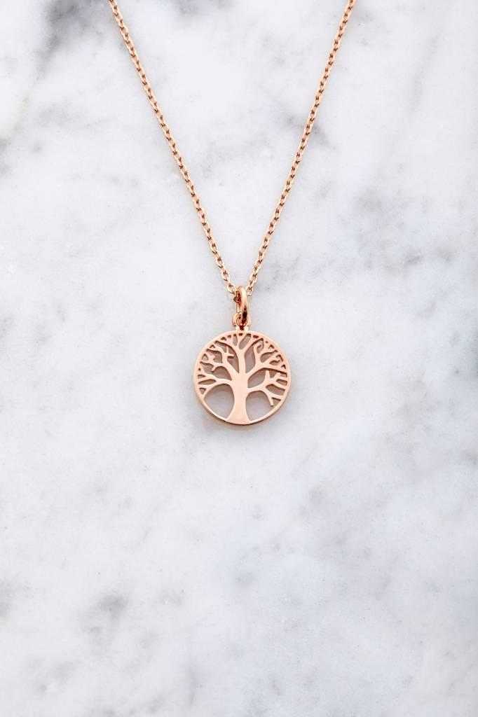 Lebensbaum aus rosé vergoldetem 925er Silber