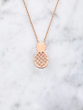Pineapple | Rose gold plated