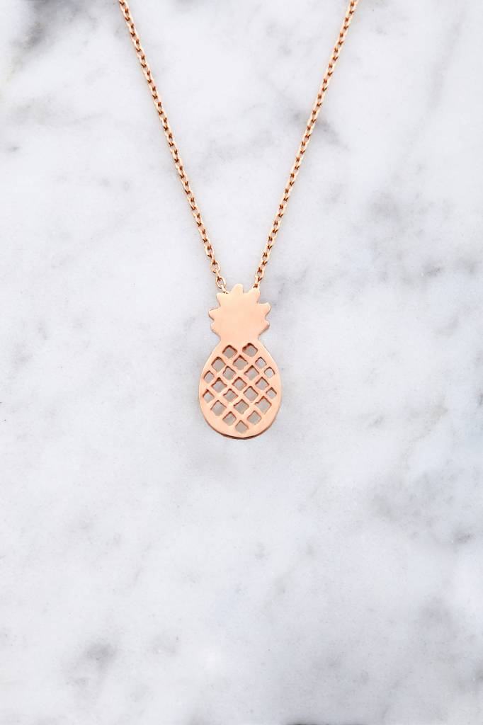 Pineapple nacklace | rose gold plated 925 silver