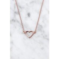 Armband mit Herz aus 925er Silber rosé vergoldet