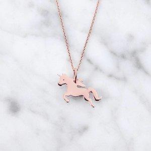 Unicorn | rose gold plated