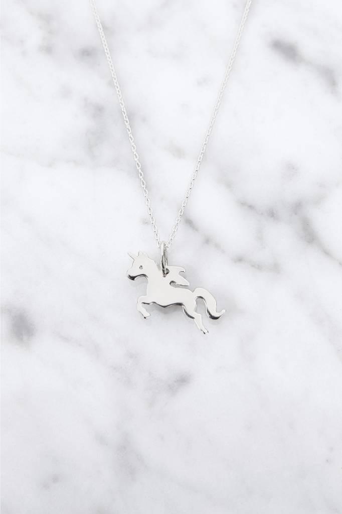 Kette mit Unicorn aus 925er Silber