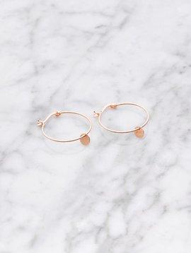 La Concha hoop earrings | rose gold plated