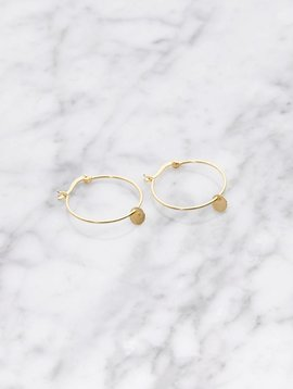La Concha hoop earrings | gold plated