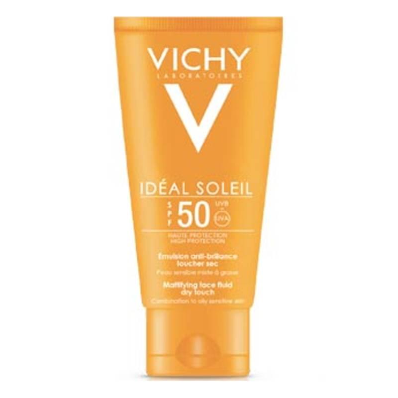 Vichy Vichy IDÉAL SOLEIL Emulsie Tegen Glimmen Dry Touch SPF50+ voor het gezicht - 50 ml