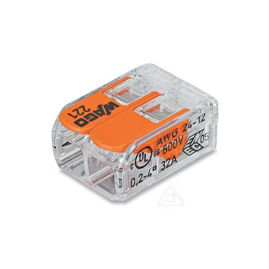 Strømkabel 230V med WAGO Klemrække - kronemuffe