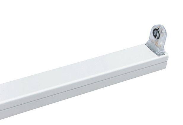 led t8 lysstofr r armatur 150 cm hvid aluminium. Black Bedroom Furniture Sets. Home Design Ideas