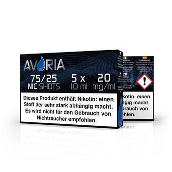 Avoria Deutsche Liquid Base Shot 5x10ml, versch. Verhältnisse
