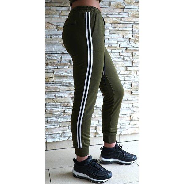 Green sweat pants