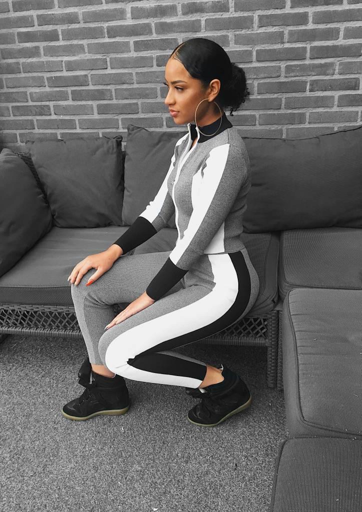 Tracksuit Grey-white