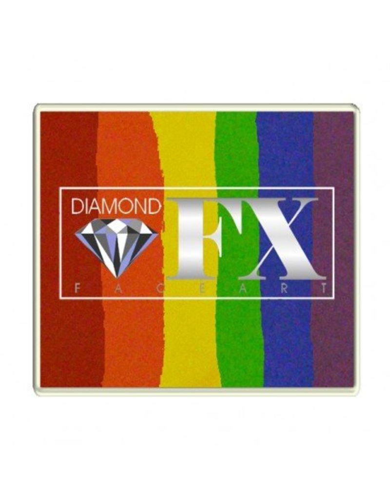 Diamond FX Splitcake regenboog schmink van Diamond FX #50-5 (50 gram)