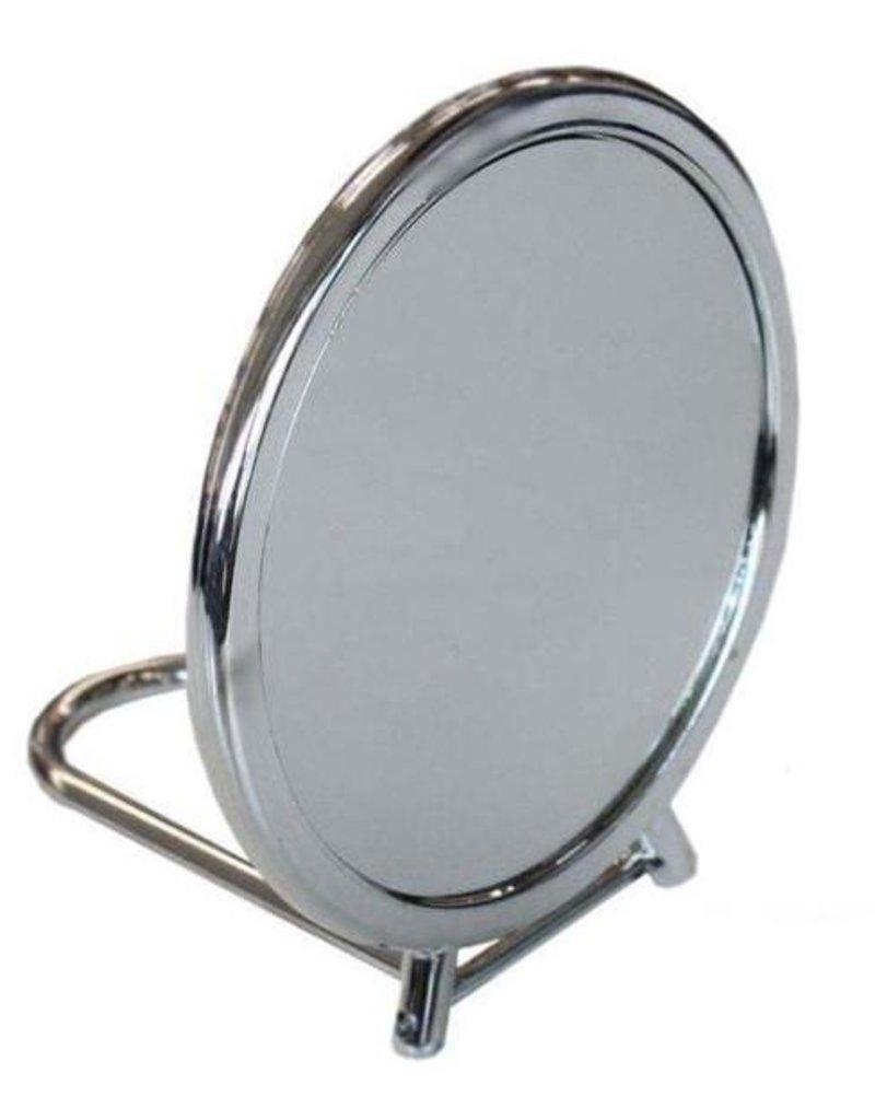 Dubbelzijdige schmink en make-up spiegel. Eén zijde vergroot.
