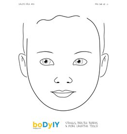 boDyIY boDyIY oefenbord gezicht: Child's Face #01