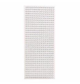 Plaksteentjes zilver (100 stuks, ⌀ 5mm)