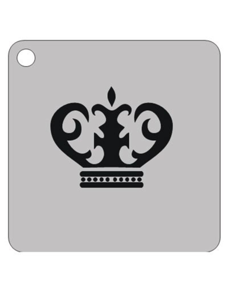 Schmink sjabloon kroon 1 vierkant 7x7cm