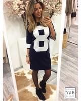 Eight Sweater Dress Blue/White