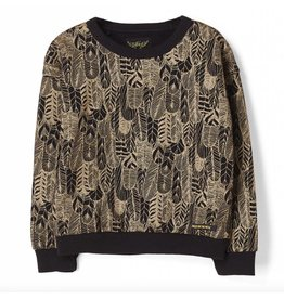 Finger in the Nose Turner black feathers sweater