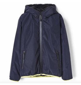 Finger in the Nose Buckley rain night blue rain jacket