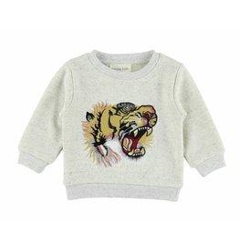 Simple Kids Tiger sweat grey