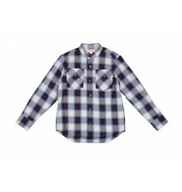 Anne Kurris Roman boys shirt check blue