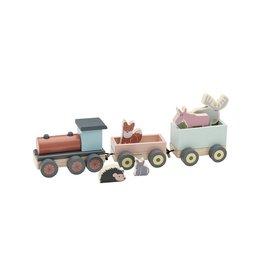 Kids Concept Houten Speelgoed Trein Met Vriendjes