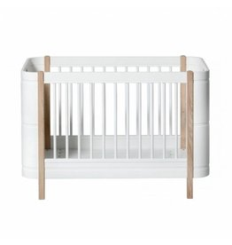 Oliver Furniture Wood Mini+ meegroei ledikant eiken/wit