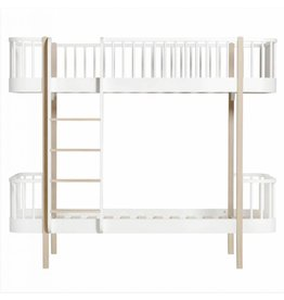 Oliver Furniture Wood stapelbed eik/wit