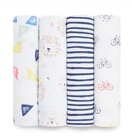 Aden & Anais swaddle 4pack leader