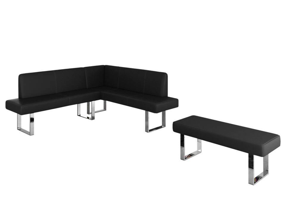 Davidi Design Elodie Hoekbank (Lange zijde Links) Zwart+Poef