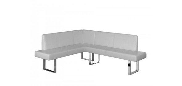 Davidi Design Elodie Hoekbank (Lange zijde Rechts) Wit+Poef