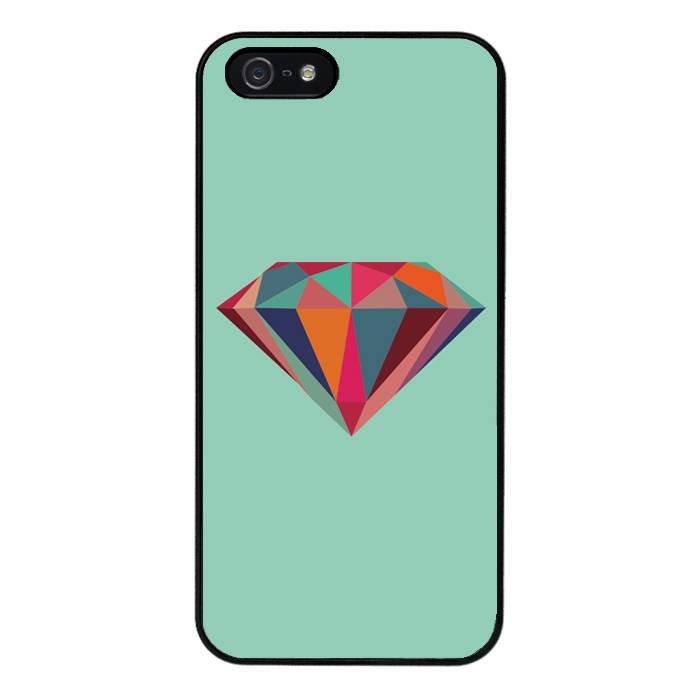 iPhone 5/5S/SE hoesje - Coloured diamond #1