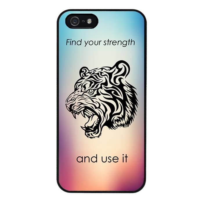 iPhone 5/5S/SE hoesje - Find strength
