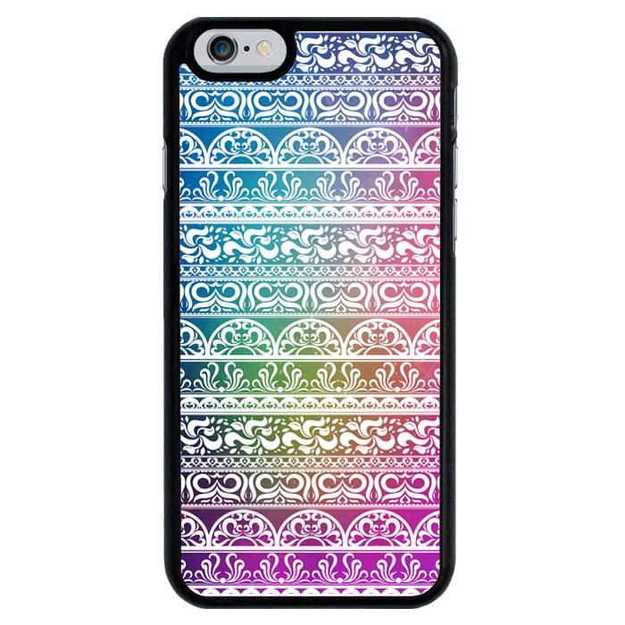 iPhone 6/6S hoesje - Sierlijk patroon op kleur #1