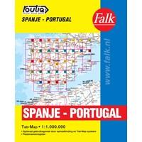 Falk Routiq autokaart Spanje / Portugal Tab Map