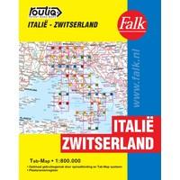 Falk Routiq autokaart Italië/Zwitserland Tab Map