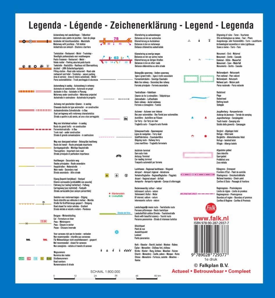 Falk Routiq autokaart Italië en Zwitserland Tab Map, picture 85334528
