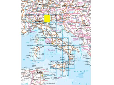 Falk Routiq autokaart Italië en Zwitserland Tab Map, picture 85334534