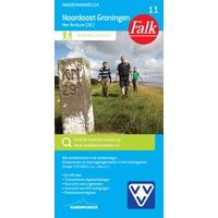 Falk Wandelkaart 11. Noordoost Groningen met Borkum