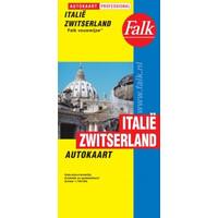 Falk Autokaart Italië/Zwitserland Professional
