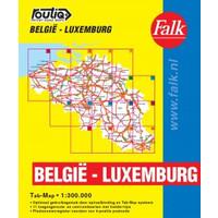 Falk Routiq autokaart België / Luxemburg Tab Map