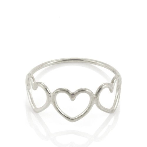 Laura Gravestock Written Multi Heart Ring