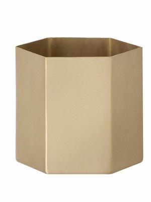 ferm LIVING Hexagon Pot - Brass - Large