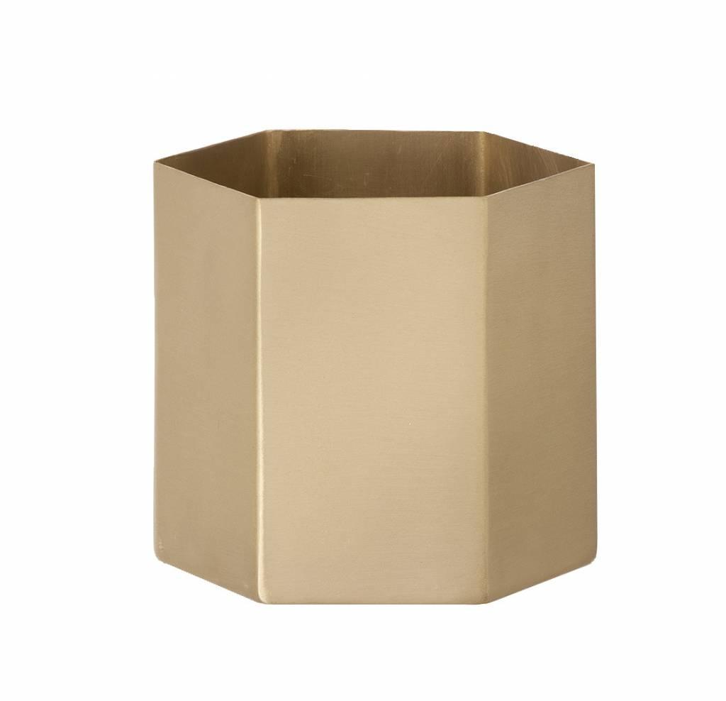 ferm LIVING Ferm Living Hexagon Pot - Brass - Large