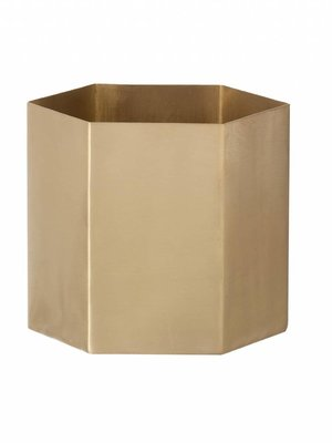 ferm LIVING ferm LIVING Hexagon Pot - Brass - Small