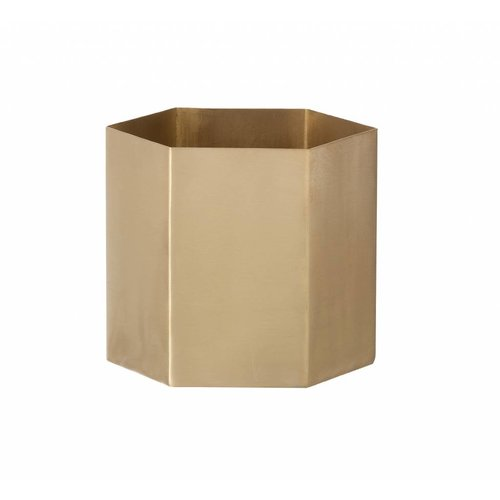 ferm LIVING Hexagon Pot - Brass - Small
