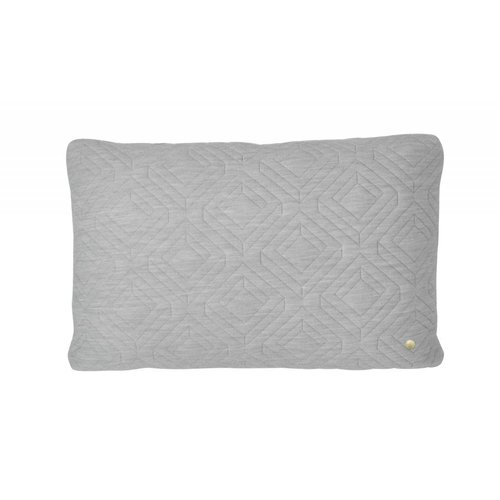 ferm LIVING Quilt Cushion - Light Grey 60x40