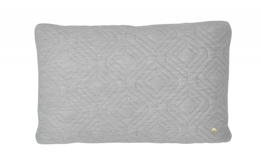 ferm LIVING ferm LIVING Quilt Cushion - Light Grey 60x40
