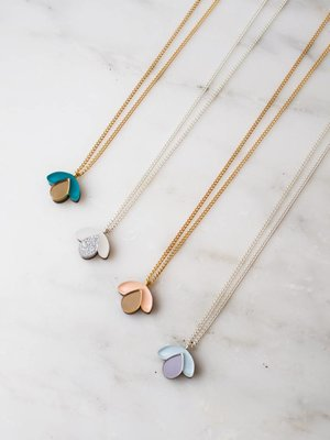 Wolf & Moon Bloom Bud Necklace