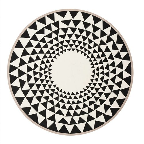 ferm LIVING Triangle Geometric Round Blanket